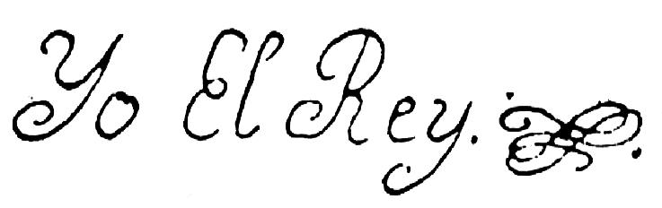 Ferdinand VI of Spain's signature