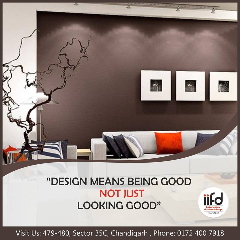 Design Means Being Good Not Just Looking Good Admission Open