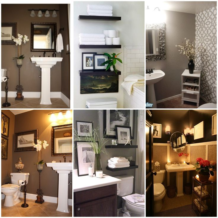 My Half Bathroom Decor Inspirations! #bathroom #decorating