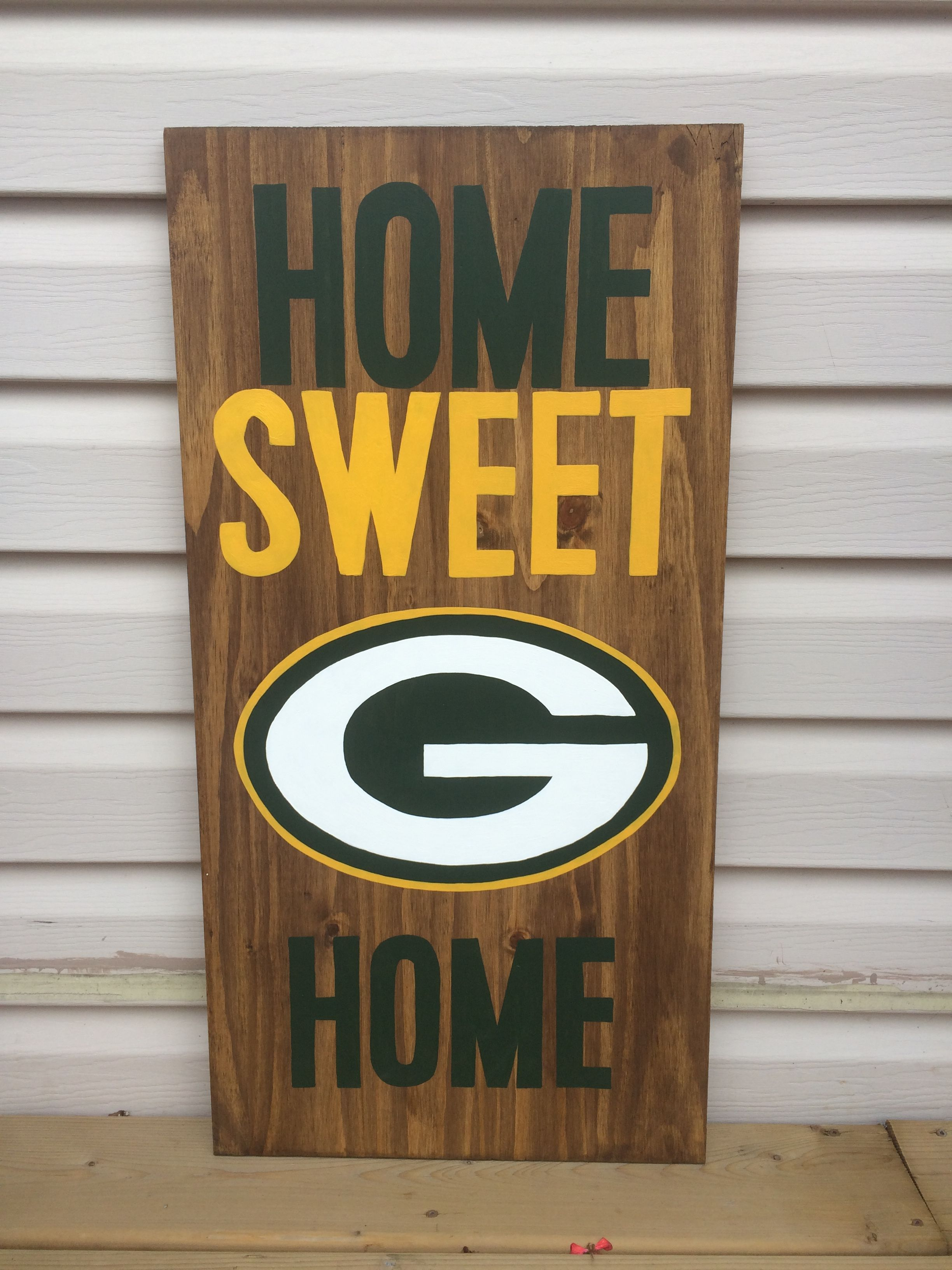 Green Bay Nfl Wood Decor Crafts