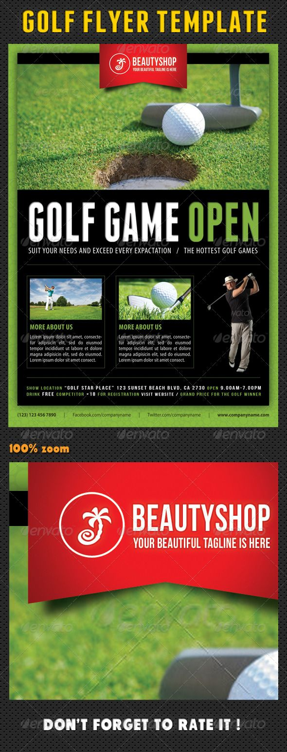 golf flyer template 04 flyer template psd flyer templates and