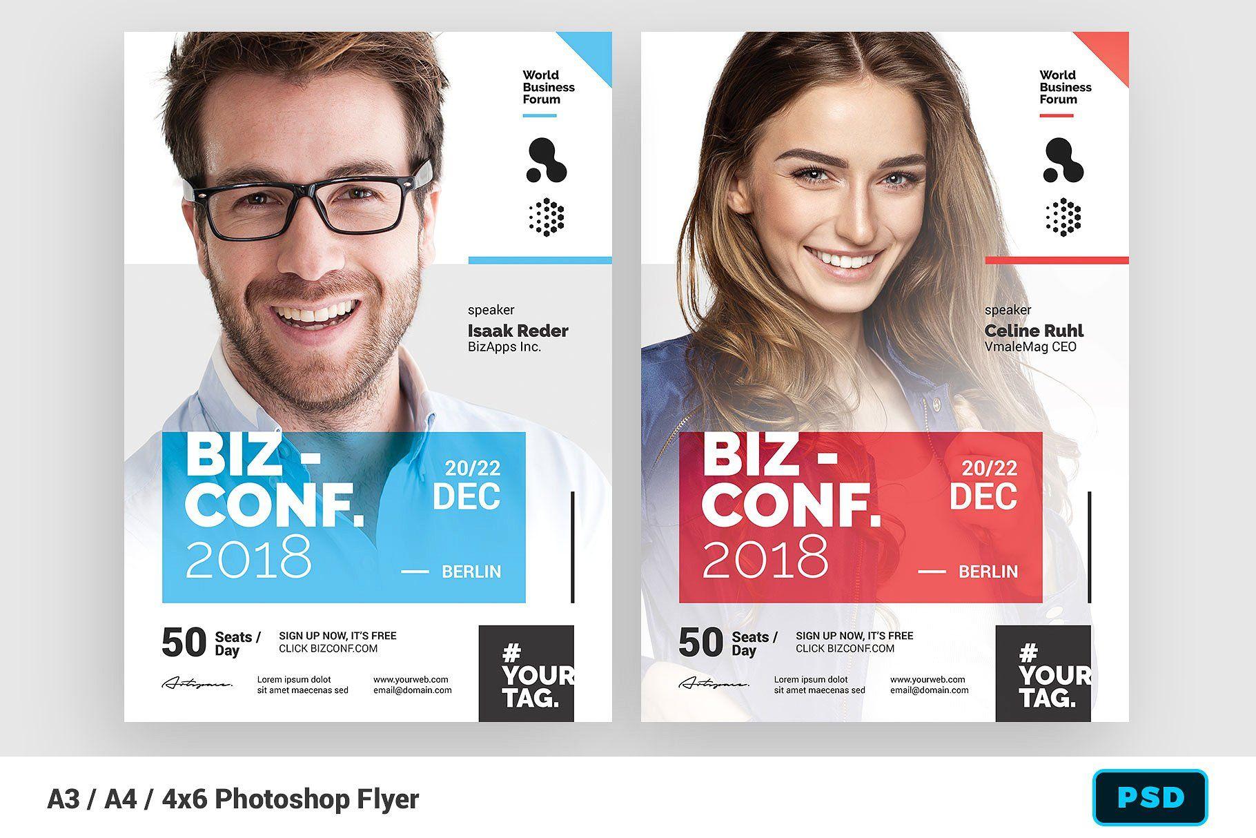 Seminar Flyer Template Flyer Template Flyer Infographic Design