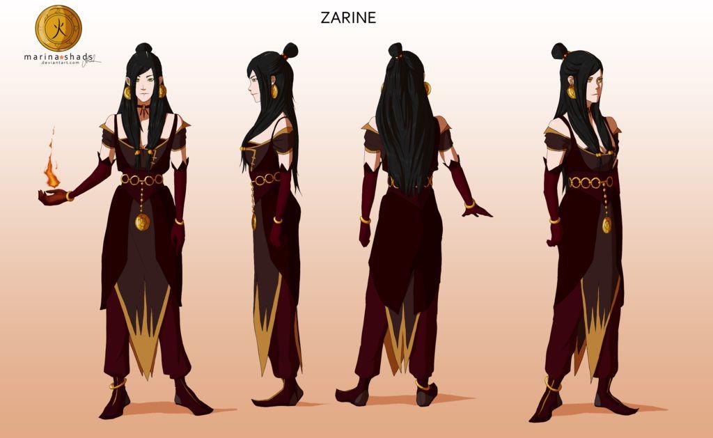 avatar character design character design- zarine   avatar characters, avatar legend