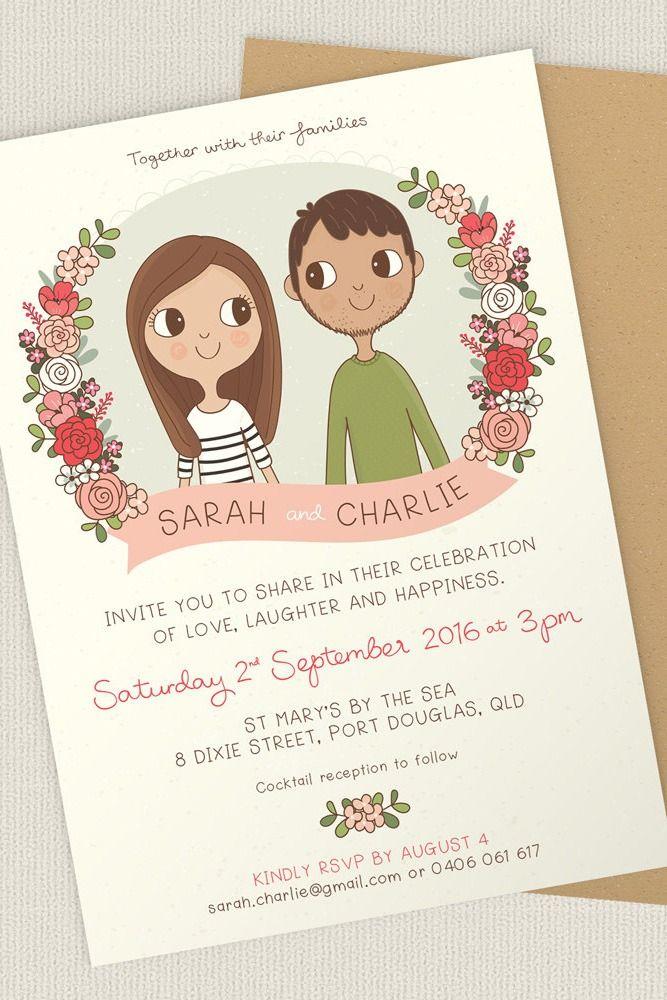 Custom wedding invitations from Clare Vacha