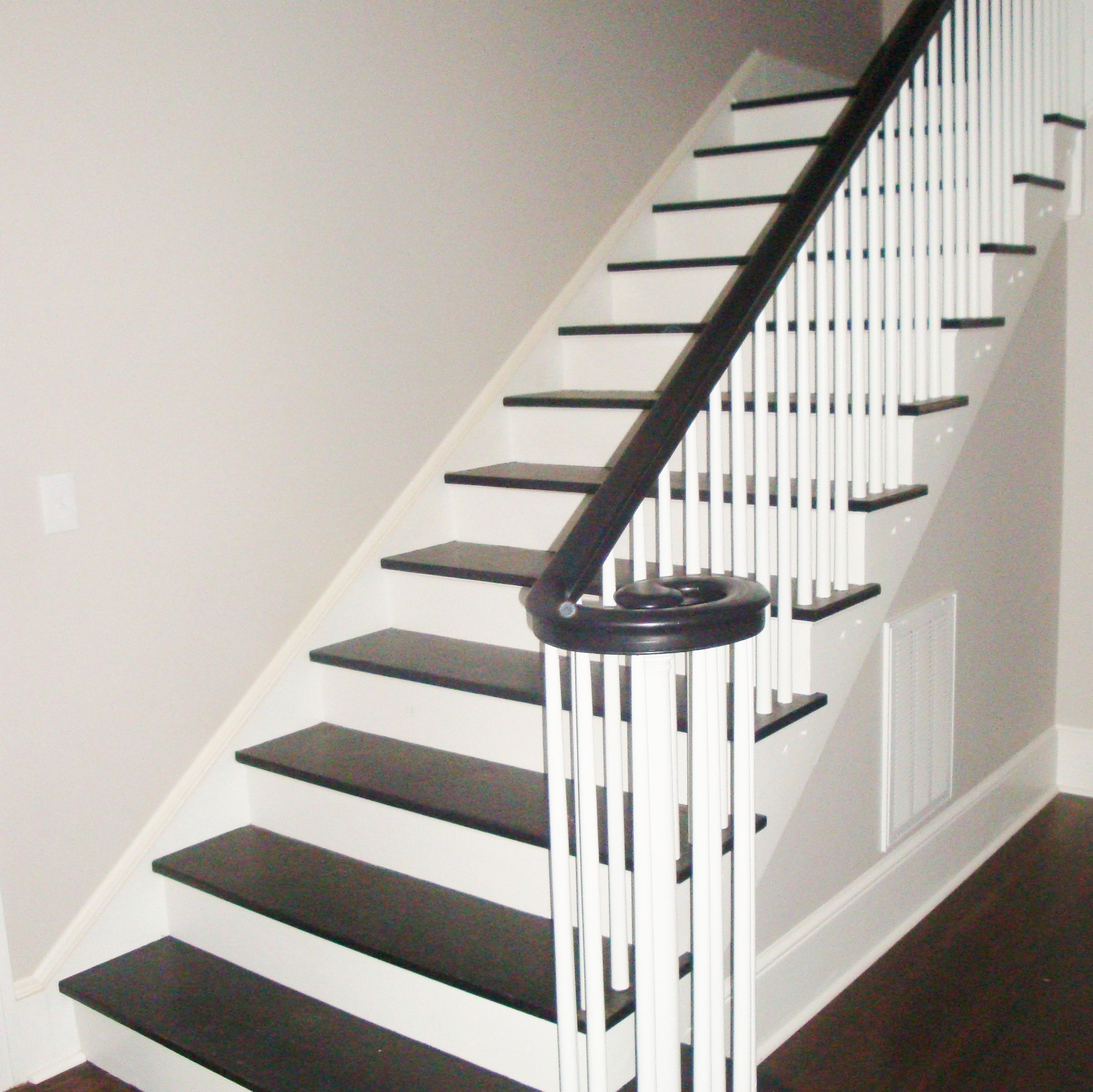 25 Pretty Painted Stairs Ideas: They Show The Dirt, But I Love Them