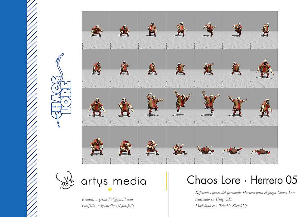 https://flic.kr/p/Fvtn4u | Chaos Lore · Herrero 05 | Diferentes poses del personaje Herrero para el juego Chaos Lore realizado en Unity 3D.  Modelado con Trimble SketchUp.