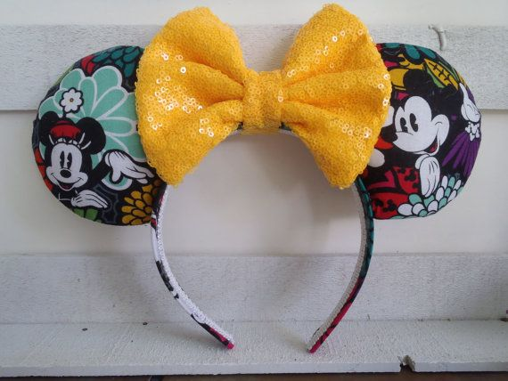 "Love My Vera Mickey's Magical Blooms ""Fireworks"" Handmade Custom Mouse Ears inspired by Disney"