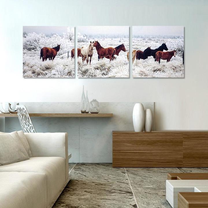 Horses on Plains Printed Wall Art