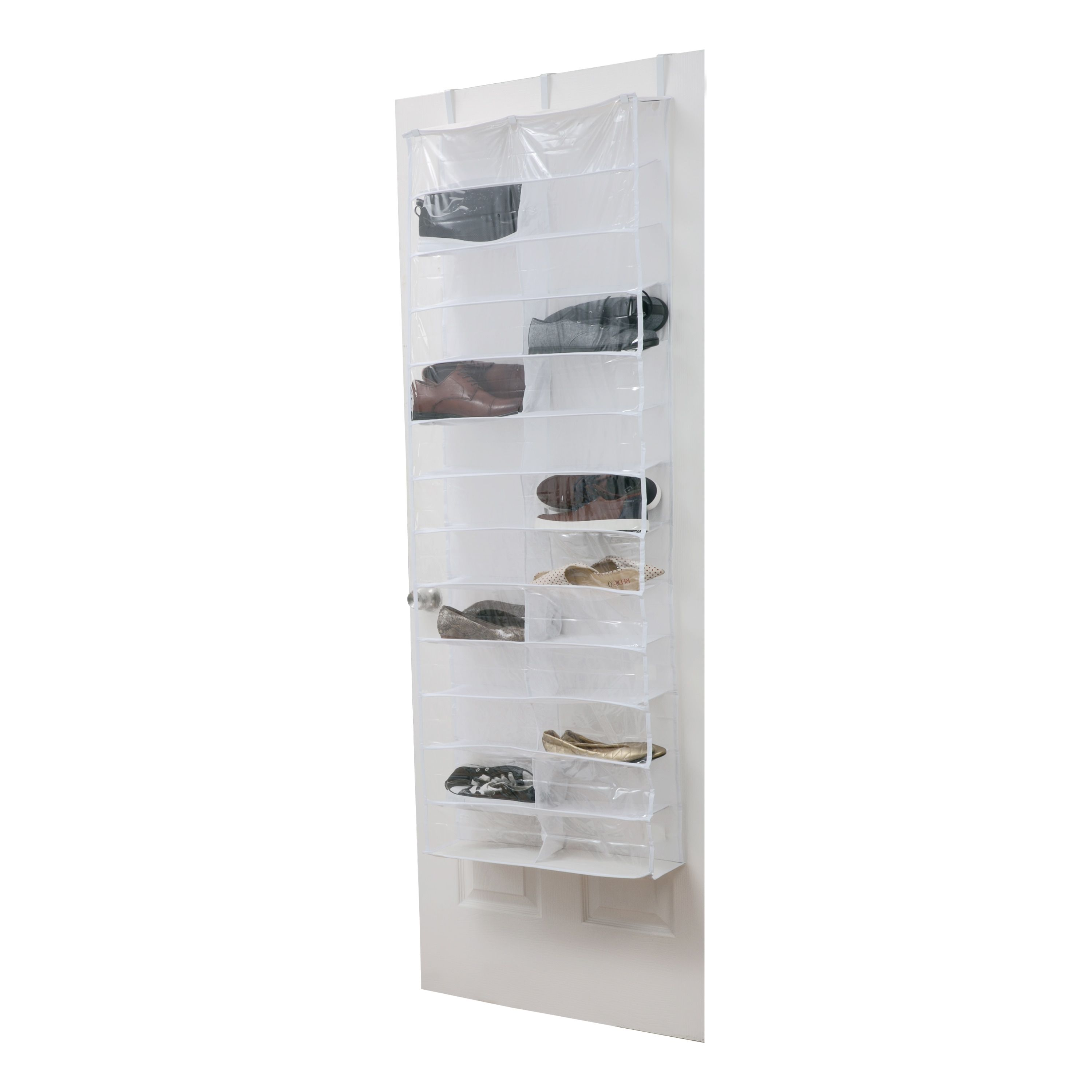Kennedy Crystal Clear Pvc 26 Pocket Over The Door Shoe Organizer 26