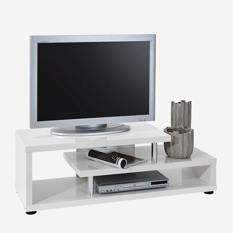 TV-Lowboard Eggert - Hochglanz Weiß, roomscape Jetzt bestellen - mobel weis wohnzimmer