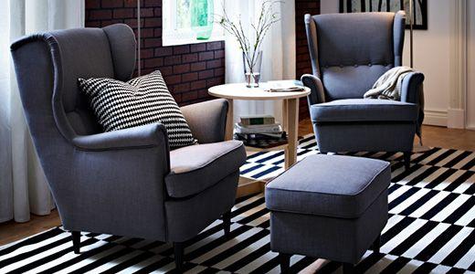 Strandmon Ohrensessel Ikea Echte Entspannung Und Erholung Durch Hohen Sesselrucken Mit Bildern Wohnen Wohnzimmersessel Ikea Sessel
