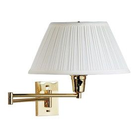 Kenroy Home Element 13 In W 1 Light Polished Brass Arm Hardwired Wall Swing Arm Wall Lamps Plug In Wall Sconce Swing Arm Wall Sconce