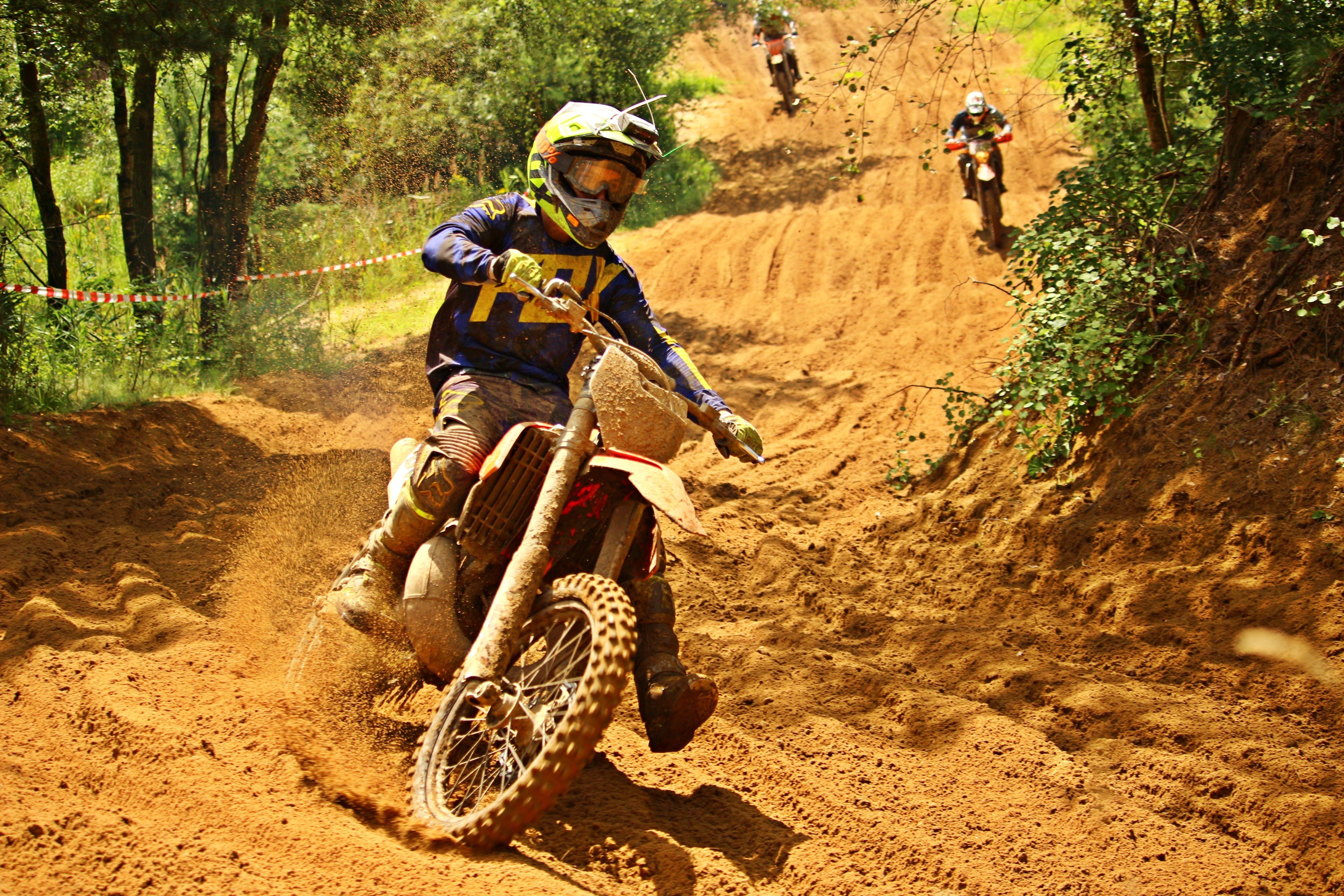 Motocross Enduro Ride Motocross Ride Motorcycle Sport Sand
