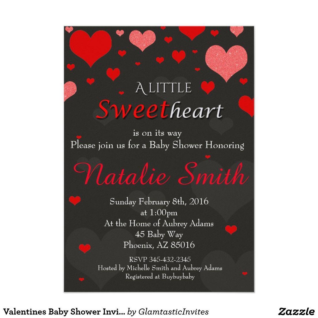 Valentines Baby Shower Invitation, Sweetheart Card | Shower ...