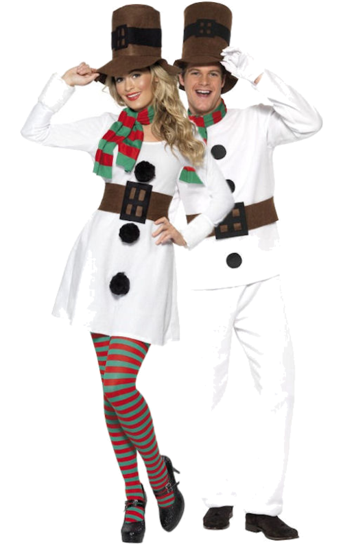 Mens Ladies Snowman Carrot Nose Winter Christmas Fancy Dress Costume Accessory