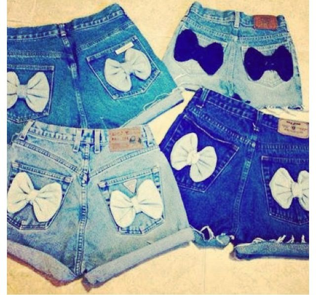 These shorts are so cute with the bows on the pockets!!