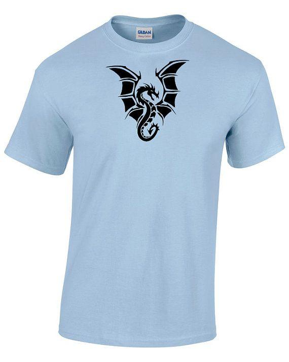 2ac03cee Black dragon original design heavy cotton t-shirt - dragon fantasy t ...