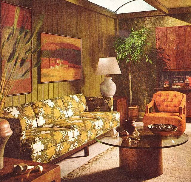 70 S Living Room Retro Living Rooms Vintage Living Room 70s