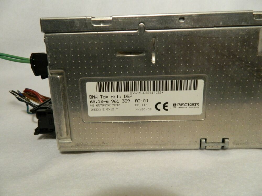 2008 Bmw 750li 65 12 6 961 389 Logic 7 Becker Amplifier E65 E66