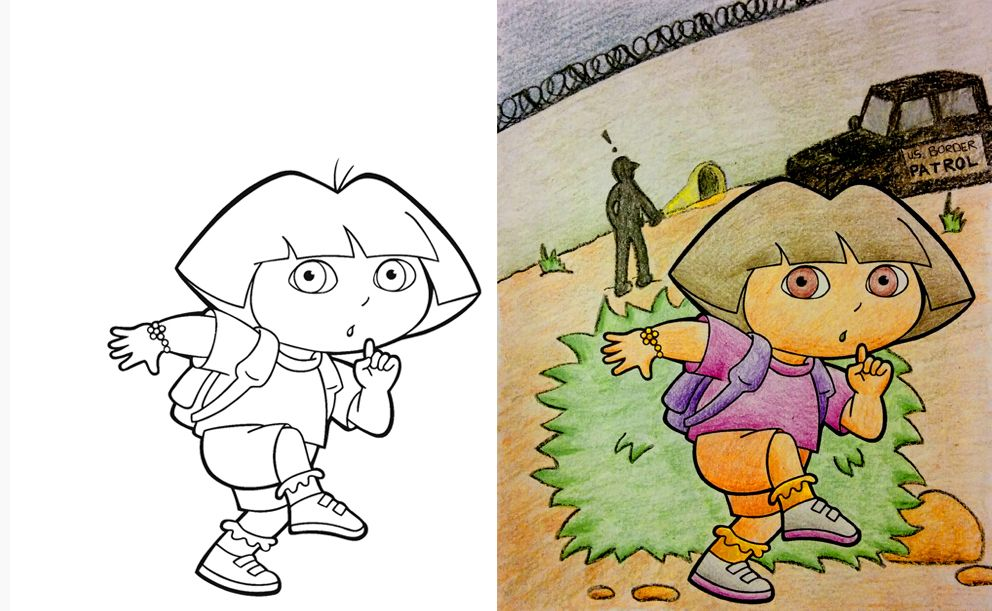 23 examples of adults fcking up coloring books dora