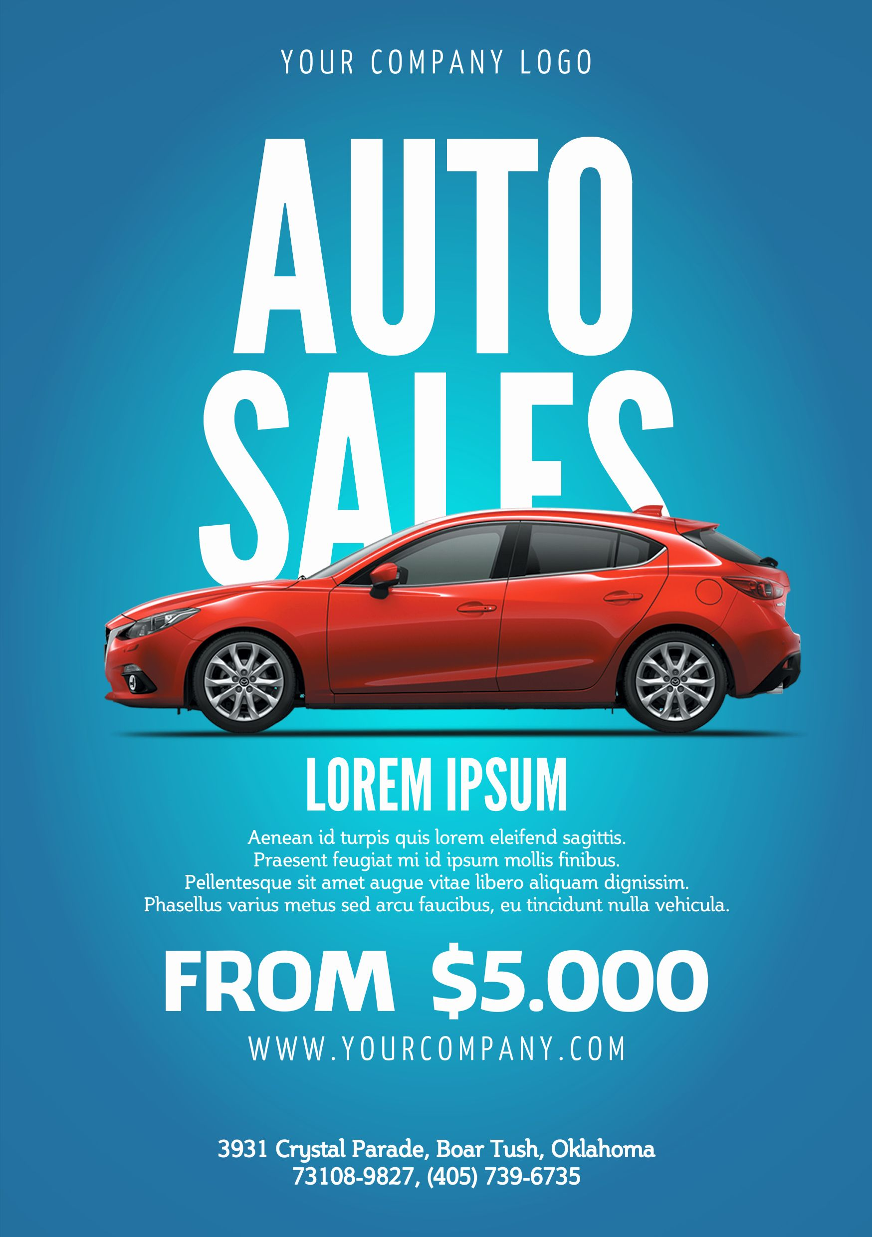 Car For Sale Poster Template