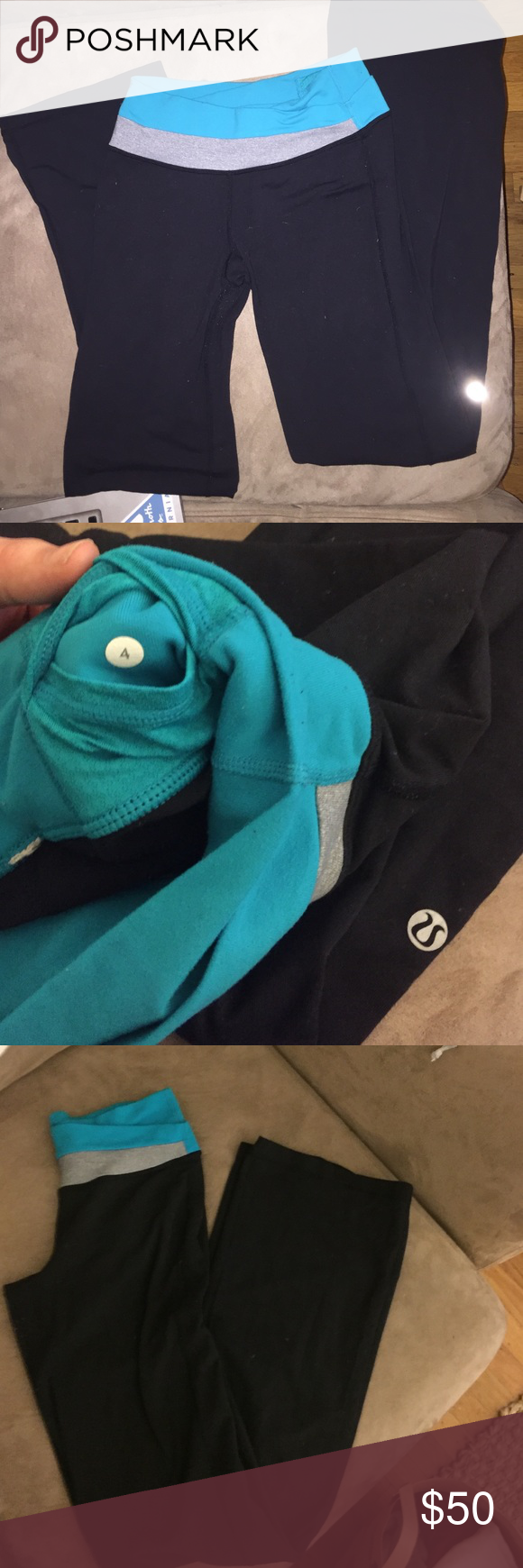 Lululemon Athletica Yoga Pants Size 4. Super cute waistband. Some pilling as usual with lulu leggings. Make me an offer ! lululemon athletica Pants