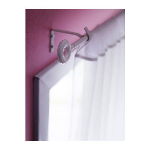 Irja White Curtain Rod Set Ikea Curtain Rods Wall Fixtures Curtains