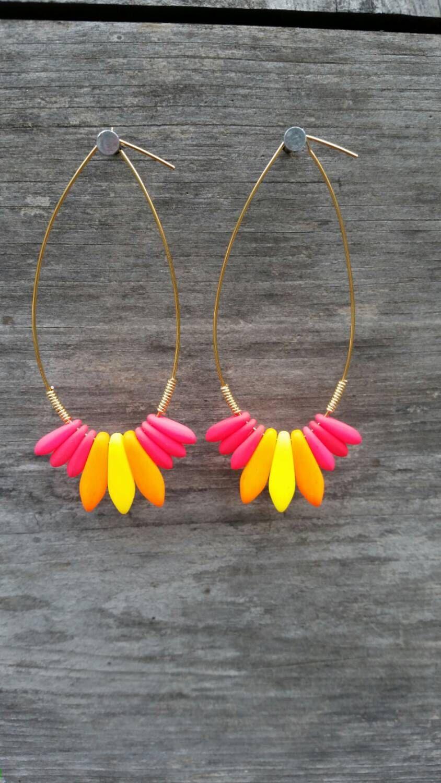 Spark Earrings: Blaze by Katopop on Etsy https://www.etsy.com/listing/239994380/spark-earrings-blaze