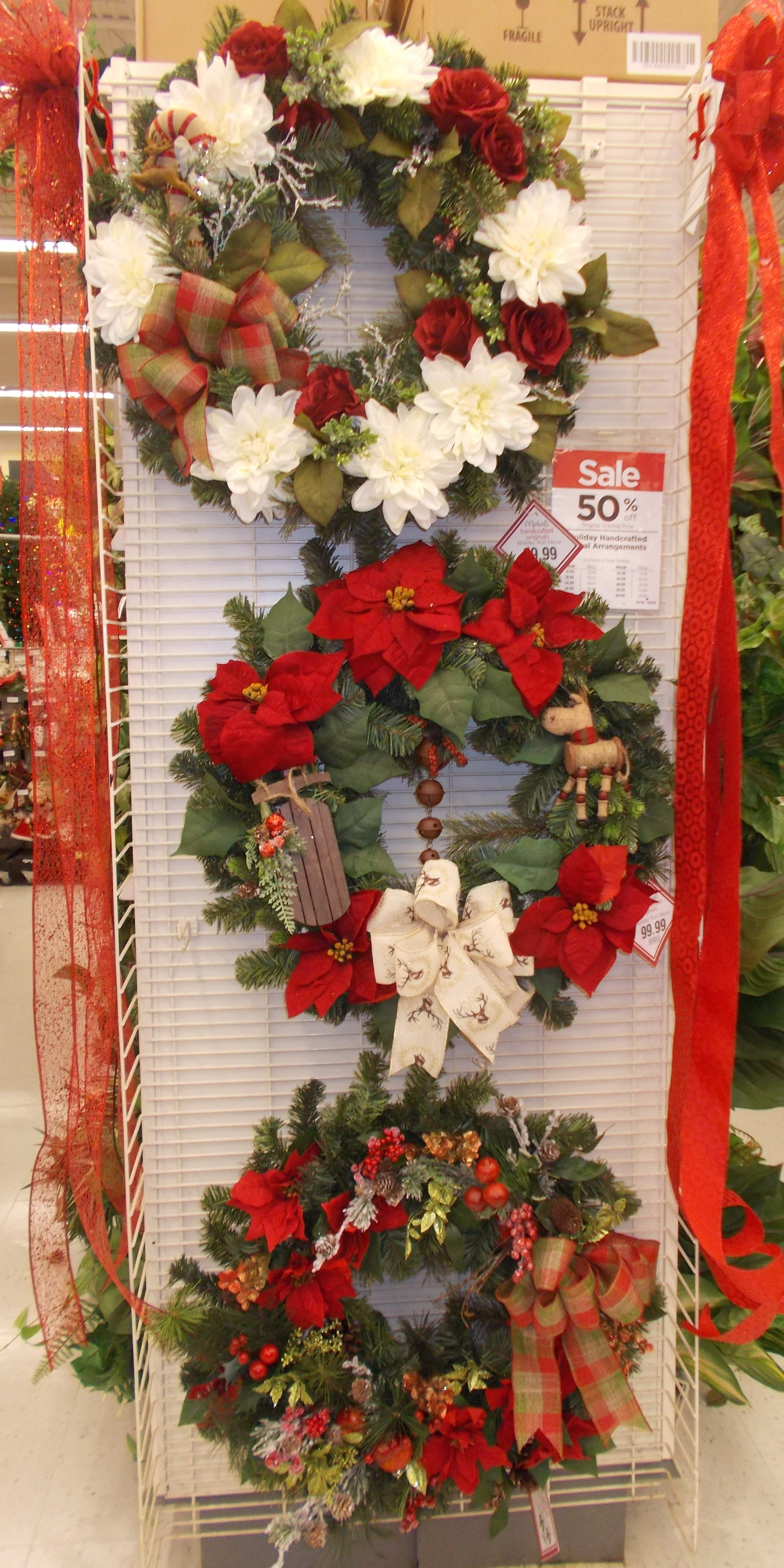 3 wreaths in my Michaels floral shop sherrie 2015