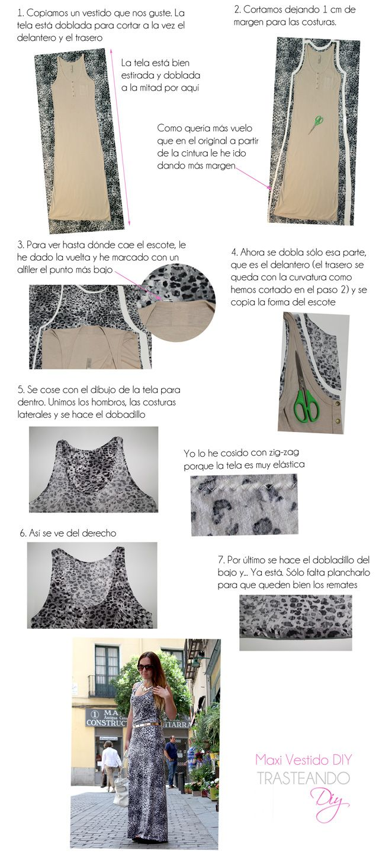 TRASTEANDO DIY: DIY...TUTORIAL MAXI VESTIDO | Patrones | Sewing ...
