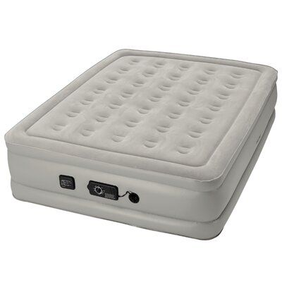 """Insta-Bed Raised 19/"""" Queen Air Mattress Airbed with Built In Never Flat AC Pump"""