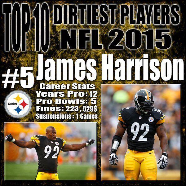 Top 10 Dirtiest NFL Players 2015 Football poster