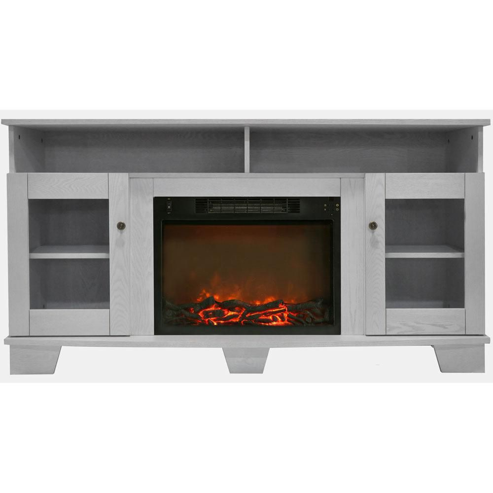 Hanover Glenwood 59 In Electric Fireplace In Cherry With
