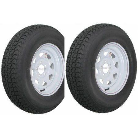 2 Pack Trailer Wheel Tire 413 480 12 4 80 12 4 80x12 Lrc 5 Hole White Spoke Trailer Tires Bolt Pattern Tire