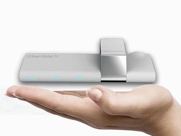 Smart Kitchen TV = LG smart TV + projector in kitchen