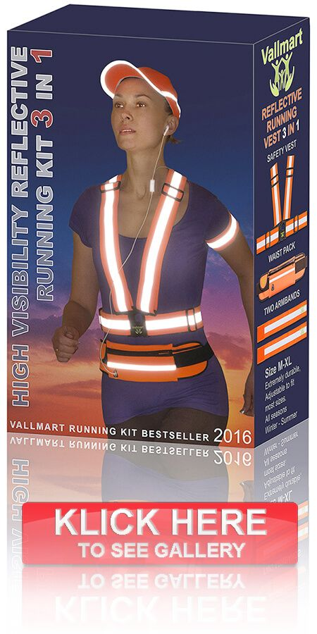 RUNNING VEST SAFETY - REFLECTIVE VEST  Reflective running gear can be worn by adults and kids alike no matter the weather during all seasons. Since it's highly adjustable, you may comfortably wear it over a puffy jacket or over a regular T-shirt. The waterproof material will also protect your small belongings from the rain when you hide them within the waist pack bag.