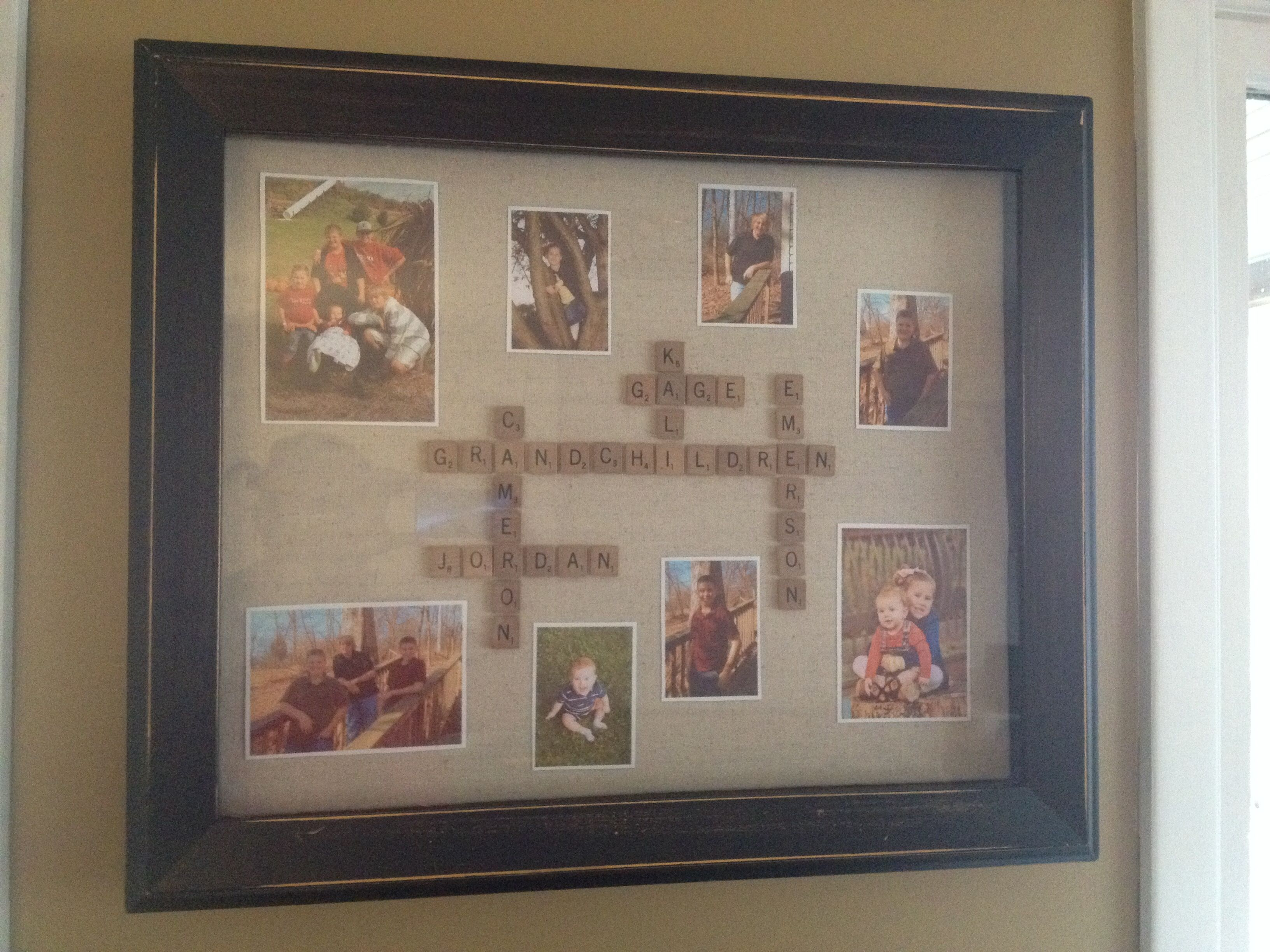 Gift for grandma and grandpa from the grand kids. :) Shadow box and ...