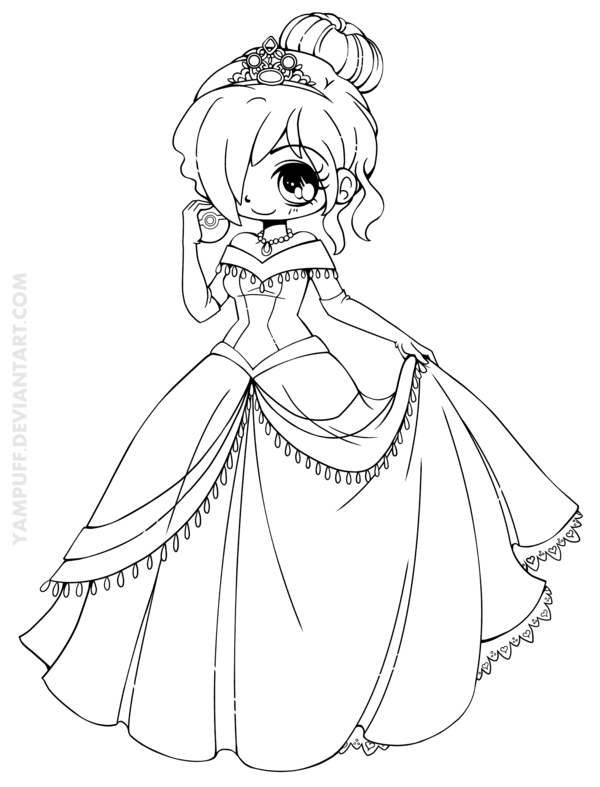 Amyel Chibi Commission By Yampuff On Deviantart Cute Disney Princess Chibi Coloring Pages