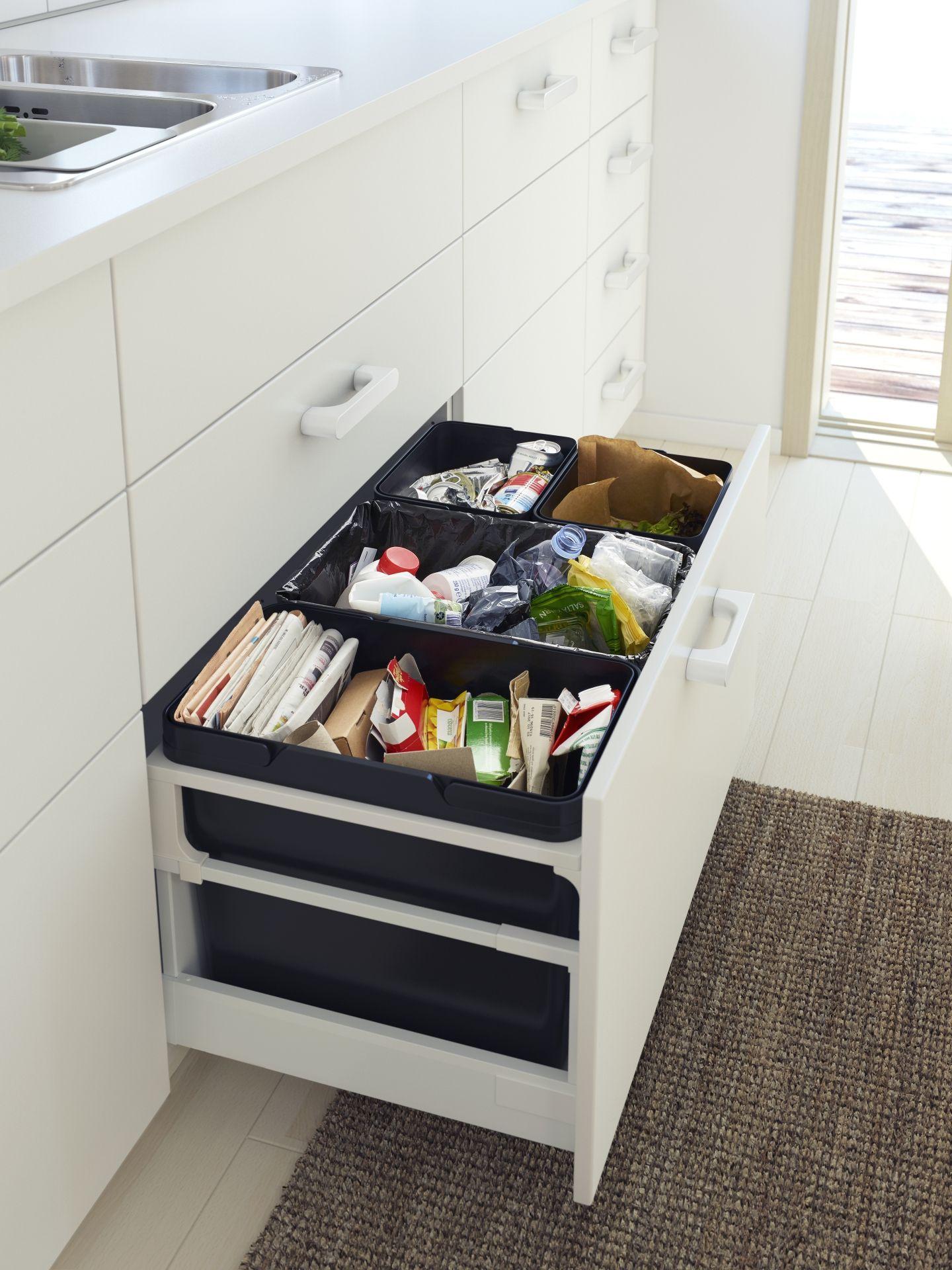 beh lter f r abfalltrennung k che ikea k che beh lter. Black Bedroom Furniture Sets. Home Design Ideas