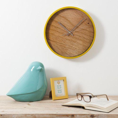 Horloge En Metal Moutarde Hans Maisons Du Monde Home