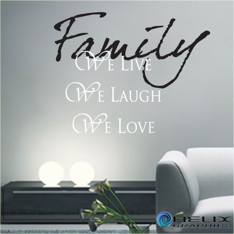 Live Laugh Love Wall Decor Art Quote Sticker Decal Family