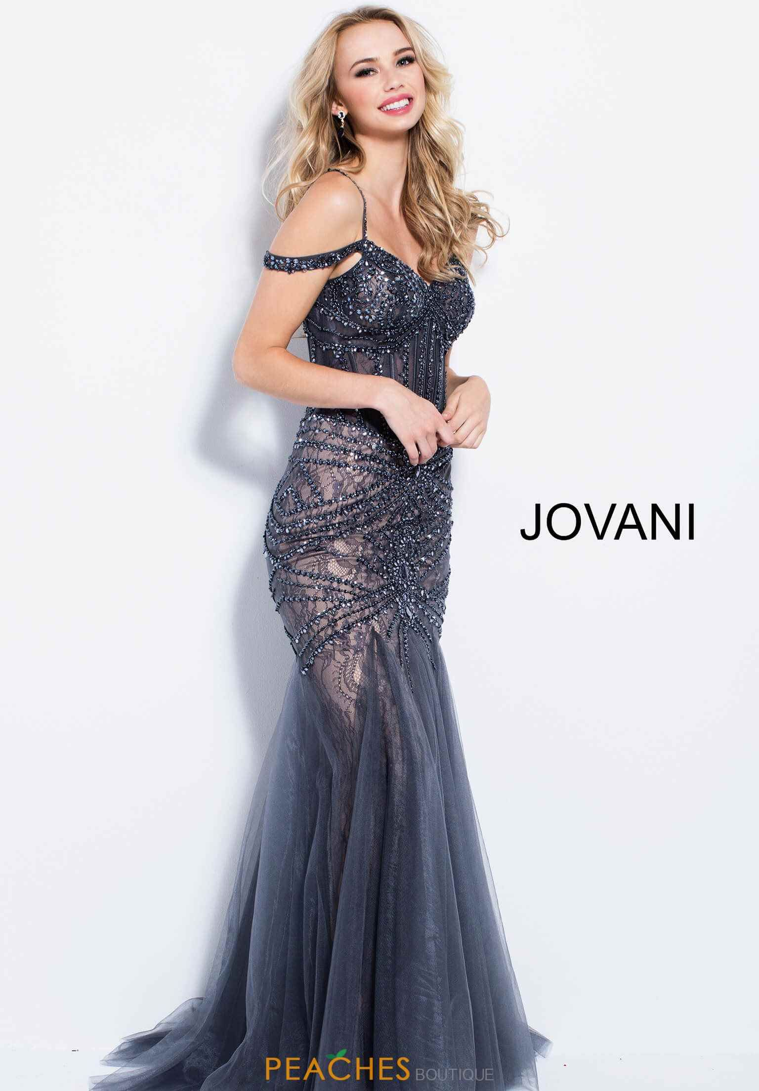 Jovani Beaded Fitted Dress 55876 Prom Dresses 2018 Pinterest