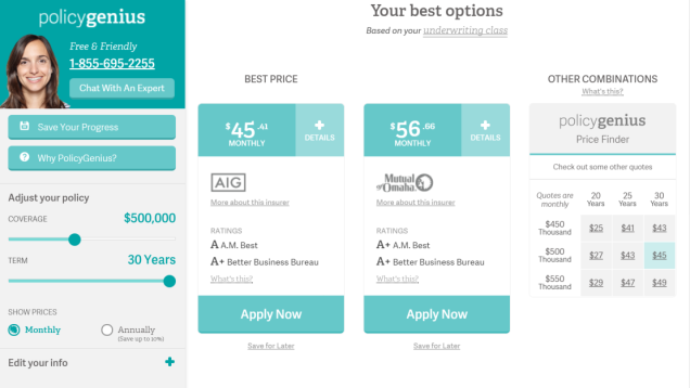 Policygenius Compares Insurance Rates Doesn T Violate Your