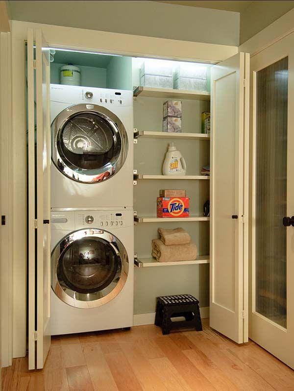 60 Amazingly Inspiring Small Laundry Room Design Ideas Small Laundry Space Laundry In Bathroom Laundry Closet