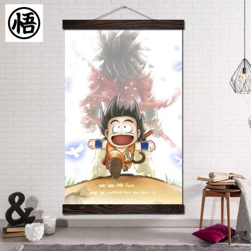 Dragon Ball Z Silly Goku Kid Cute Wall Scroll Poster