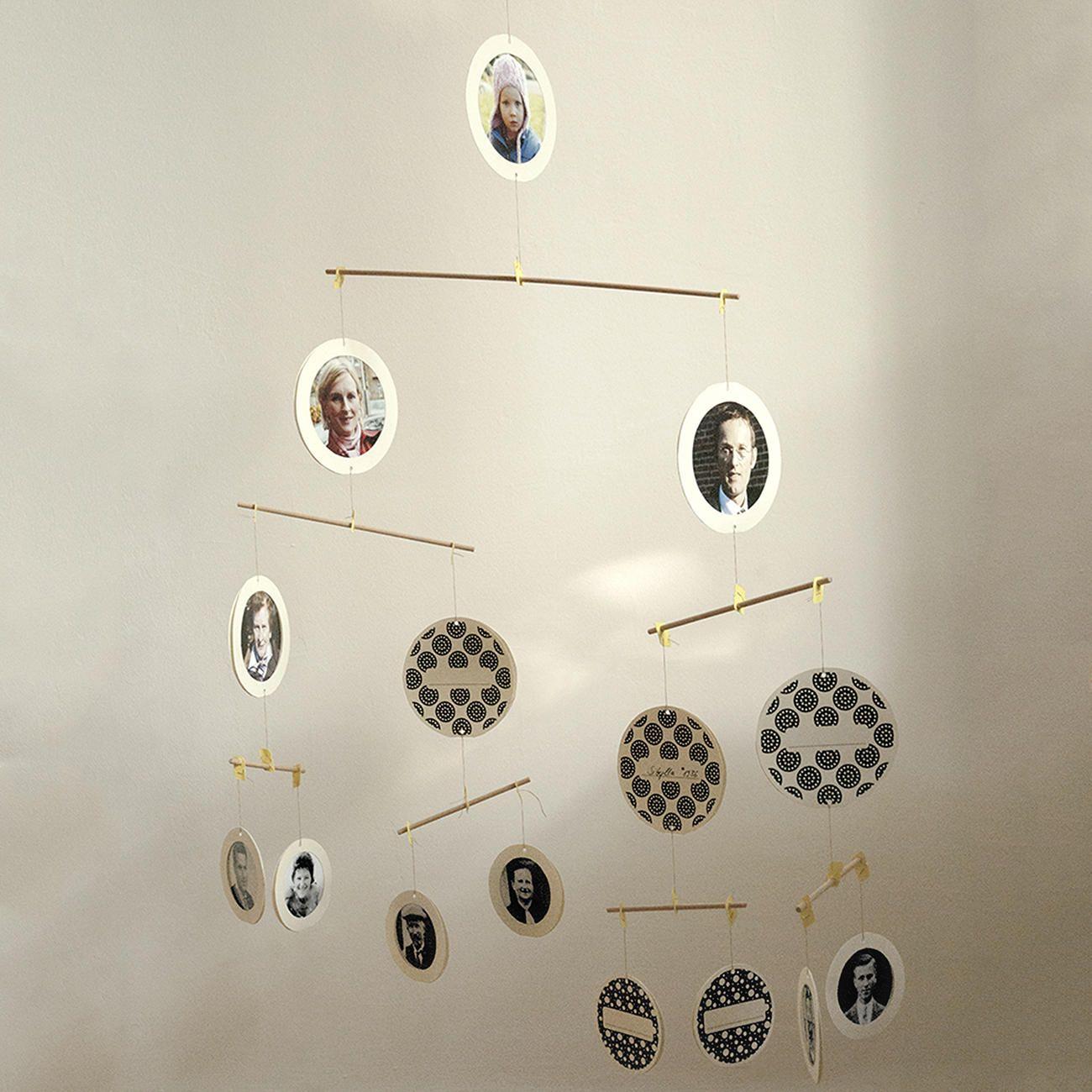 Mobile la familia ihr stammbaum ber vier generationen als anschauliches mobile diy - Stammbaum basteln mit kindern ...
