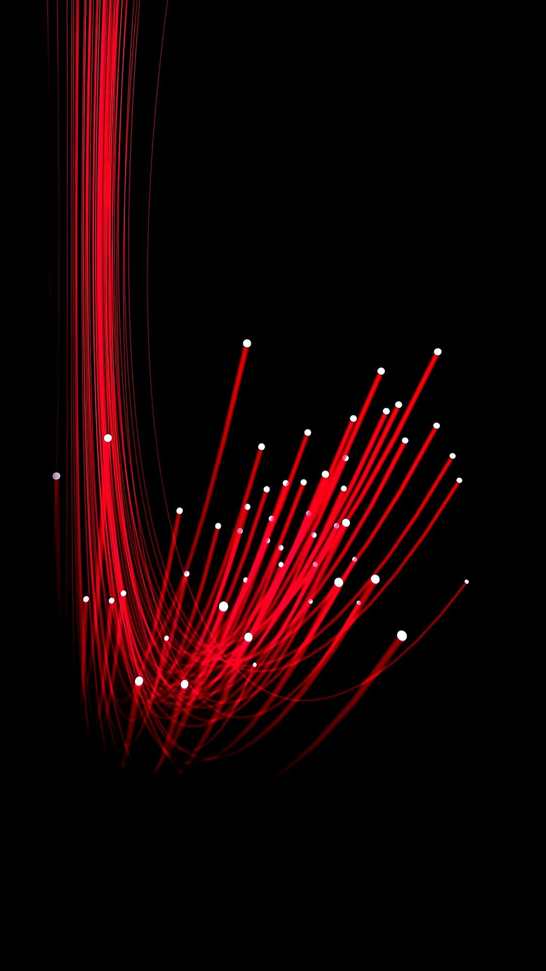 Black Background Minimalism Digital Art Abstract Optic Fiber Portrait Display 1080p Wallpaper Iphone Wallpaper Images Red And White Wallpaper Red Wallpaper