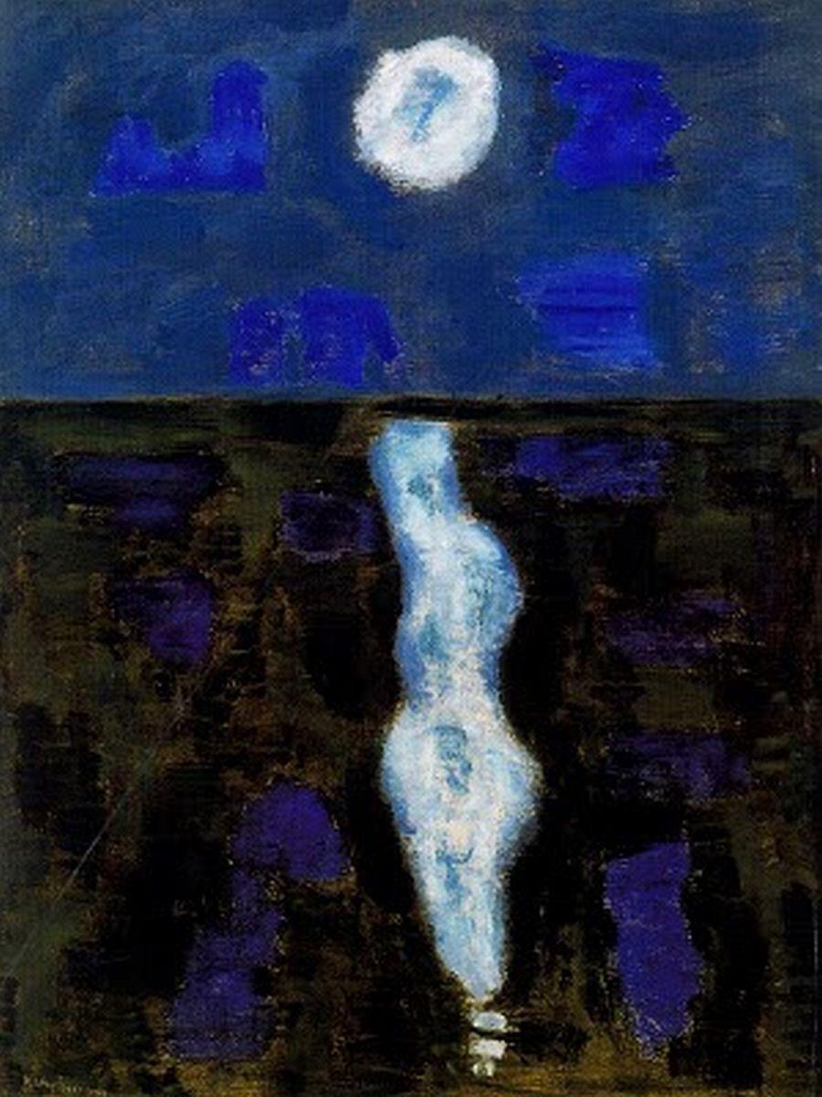 ymutate:    Milton Avery, 1957 White Moon, found here