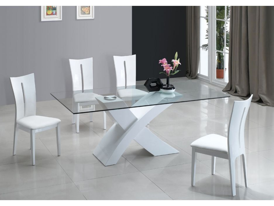 Table A Manger Opera Mdf Laque Blanc Http Www Vente Unique Com