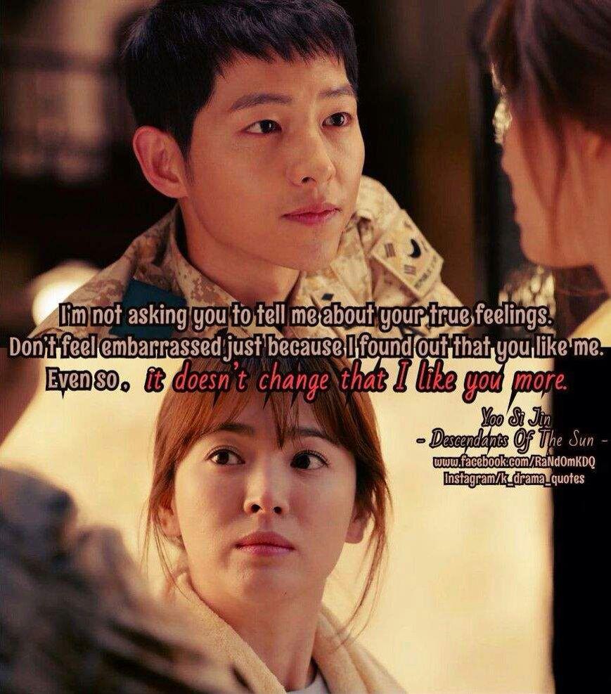 The Descendants Of The Sun Kdrama Romance Korean Drama Quotes Drama Quotes Descendents Of The Sun